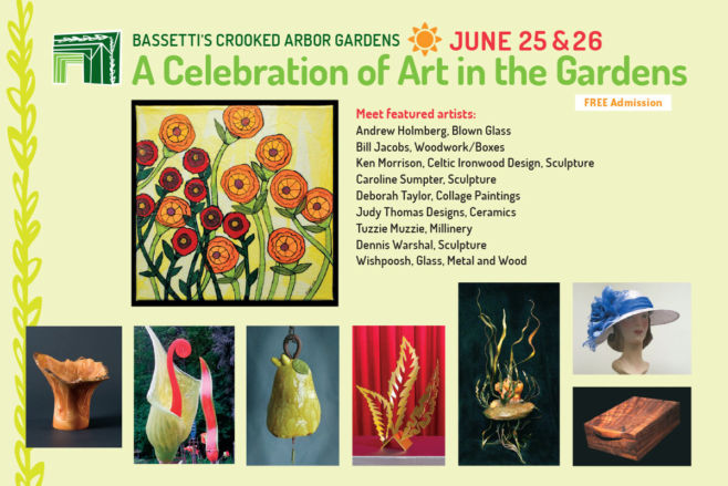 A Celebration of Art in the Gardens postcard front