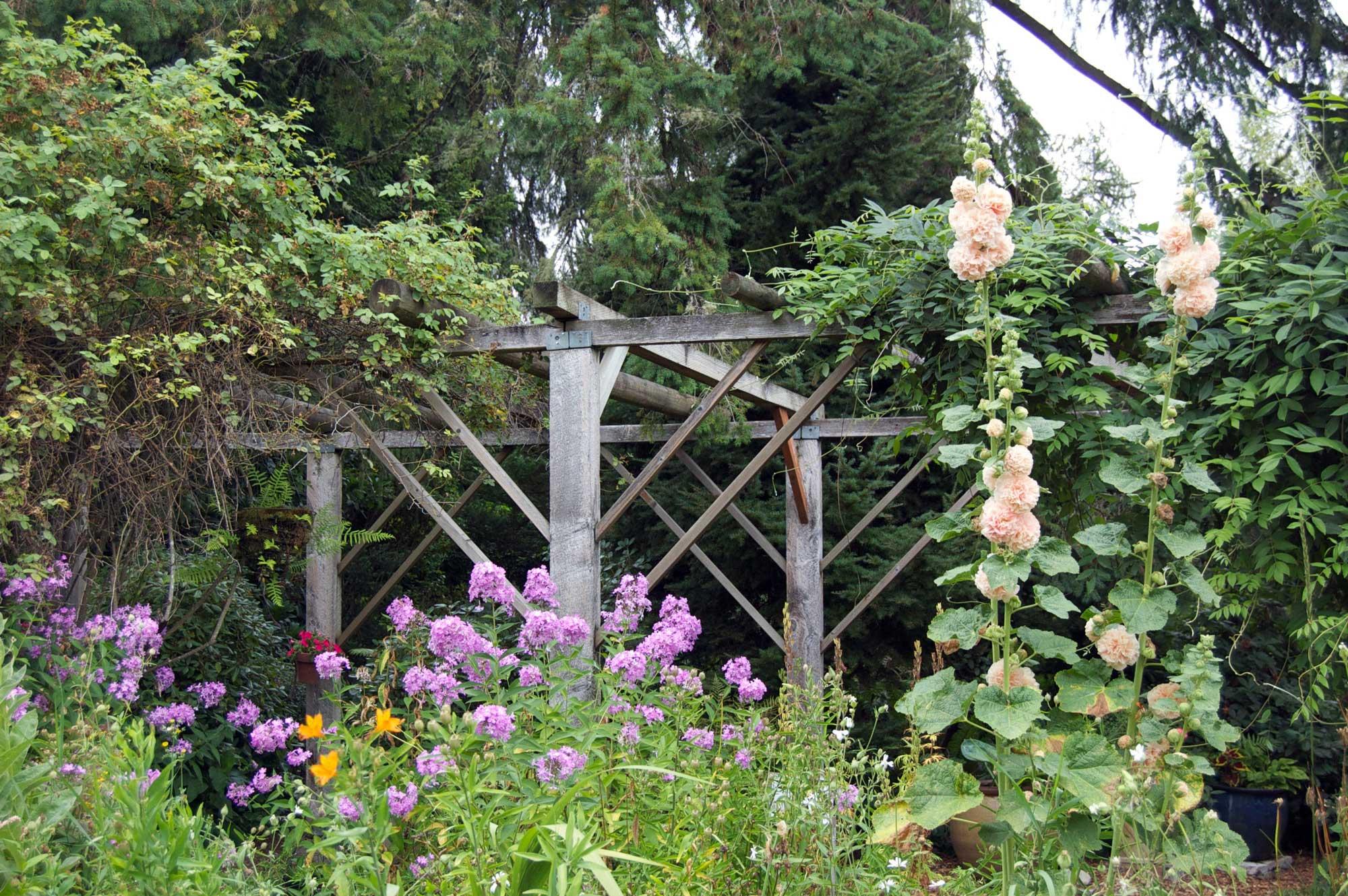... Garden Arbor With Flowers